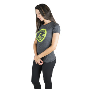 Womens distressed logo t-shirt