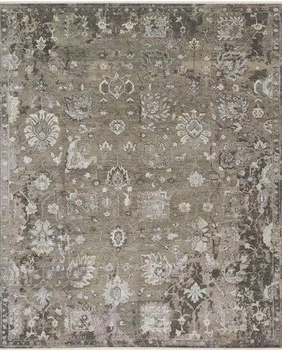 artisan collection hand knotted refined area rugs handmade rug wool and bamboo silk transitional walnut and silver loloi new artifact