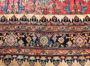 100-Year-Old Vintage Zanjan Area Rug antique area rug