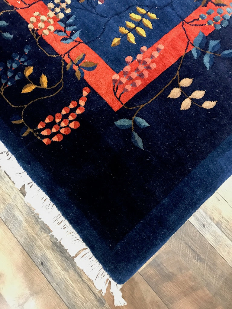 one of a kind vintage area rug antique chinese rug online affordable