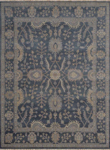Rustic Collection (RU-6) Sea Blue Rug