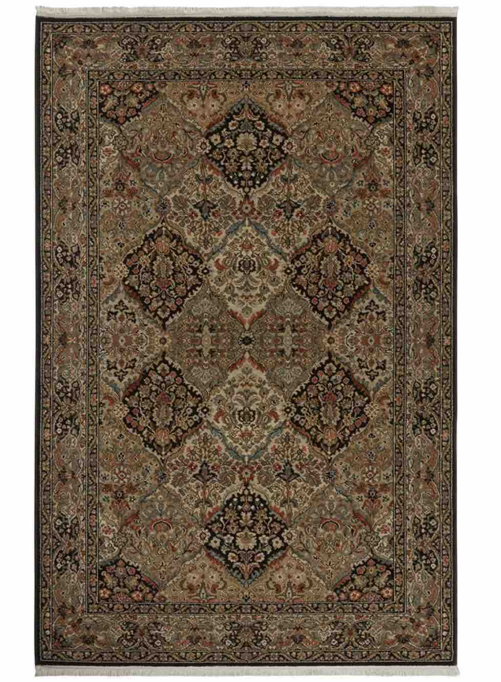Original Karastan Empress Kirman Black Rug