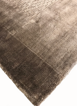 transitional area rugs online soft shiny viscose brown rug