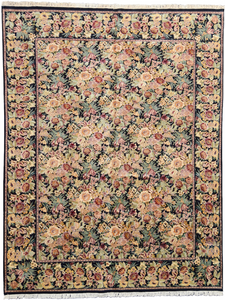 one of a kind chinese area rug floral hand-knotted handmade traditional area rug online rug store