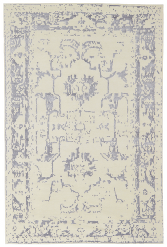 elegance collection silver and ivory area rug transitional arte restoration hardware refined carpets rugs