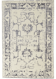 Elegance Collection (EL-4) Ivory + Charcoal Rug