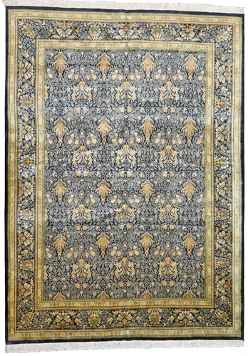 one of a kind pakistan area rug hand-knotted handmade traditional area rug online rug store green gold black large