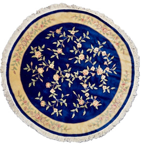 one of a kind floral chinese rug blue traditional refined area rug online round rug