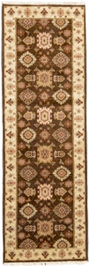 one of a kind vintage runner rug pakistan handmade hand knotted brown beige refined area rugs carpet | rugs