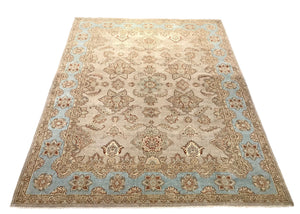 one of a kind pakistan oshak 8 x 10 area rug hand-knotted handmade traditional area rug online rug store
