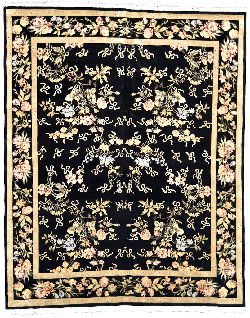 one of a kind chinese area rug hand-knotted handmade traditional area rug online rug store black large
