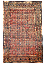 100-Year-Old Vintage Zanjan Area Rug antique area rug one of a kind large