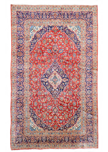 one of a kind vintage area rug antique persian kashan red blue large rug online affordable