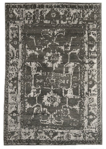 Elegance Collection (EL-2) Moss charcoal transitional area rug arte restoration hardware