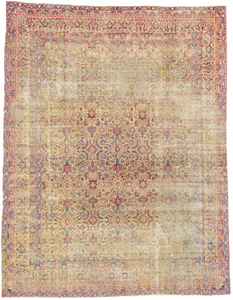 one of a kind vintage rug kerman shaw large iran handmade handknotted distressed worn down traditional area rug online affordable refined carpets