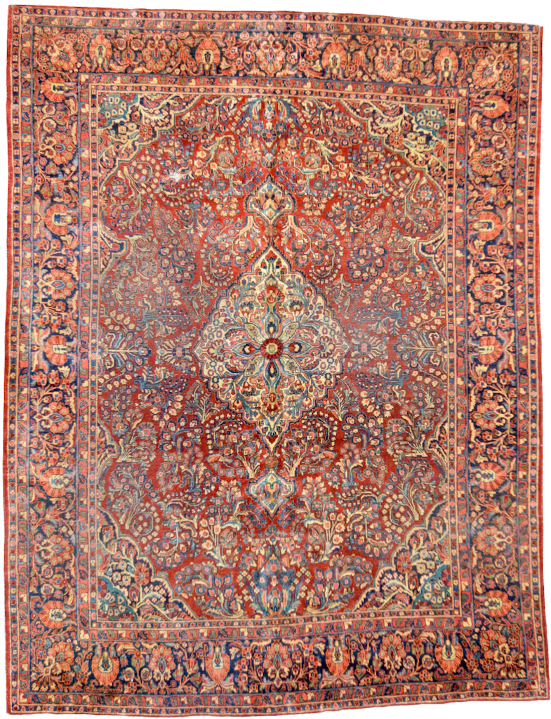 one of a kind american persian sarouk rug vintage large online affordable handmade handknotted refined area rugs