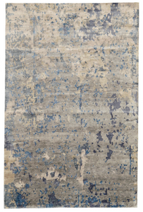 refined area rugs carpet transitional rug blue hand knotted wool bamboo silk restoration hardware