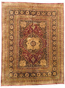 one of a kind vintage indian tabriz rug handmade hand knotted online antique affordable large traditional rug refined area rugs