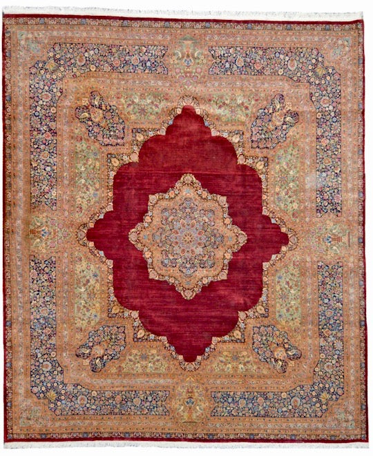 one of a kind vintage area rug persion palace sized kerman rug online affordable refined carpet rugs area rug store orange county california red and multi 12 x 14