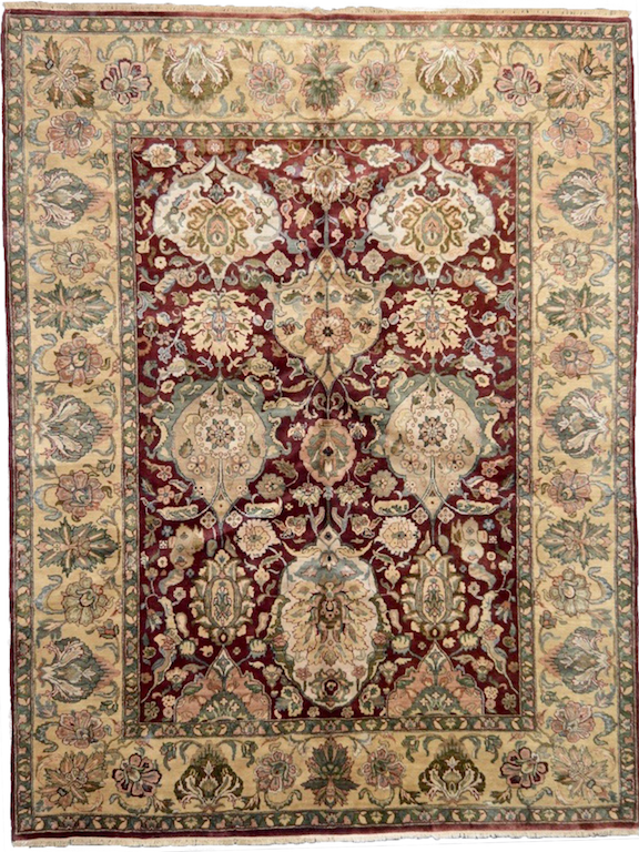 one of a kind vintage area rug antique indian red gold handmade handknotted rug online affordable refined area rugs