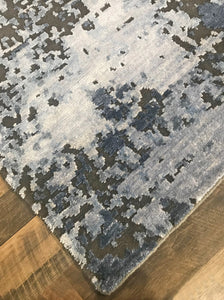 refined carpet rugs cascade collection hand knotted handmade area rugs modern wool and bamboo silk affordable online rug store orange county steel blue