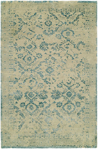 castle area rug HRI beige and turquoise contemporary transitional traditional area rug online