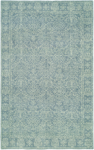 canterbury HRI Rug light blue online refined area rugs carpet affordable wool rug hand knotted
