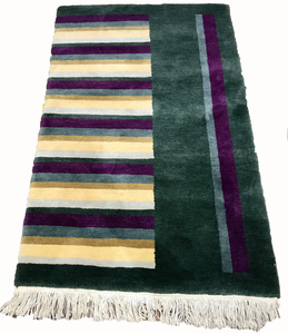 tibetan multicolor area rug 80s striped