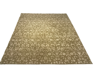 hand-knotted indian nepal area rug online gold beige area rug handmade