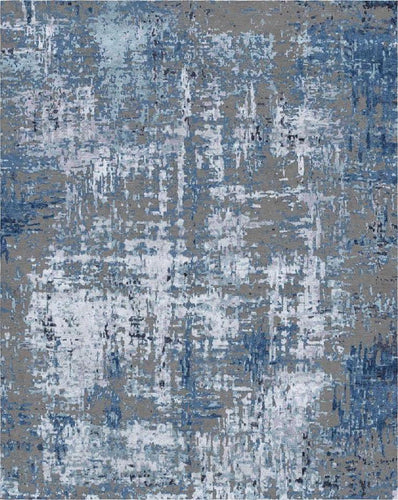 perception collection refined area rugs carpet handknotted modern rug blue and charcoal gray handmade rug india affordable online
