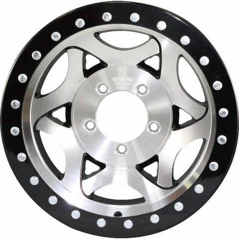 "17x8.5"" Beadlock Racing Wheel Machine Black"