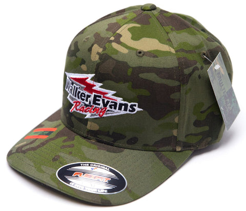 Camo Red Logo Flex Fit Hat