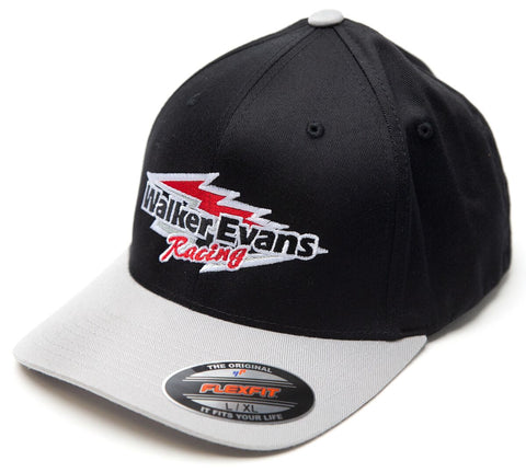 Black & Gray Red Logo Flex Fit Hat