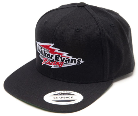 Black Red Logo Snap Back Hat