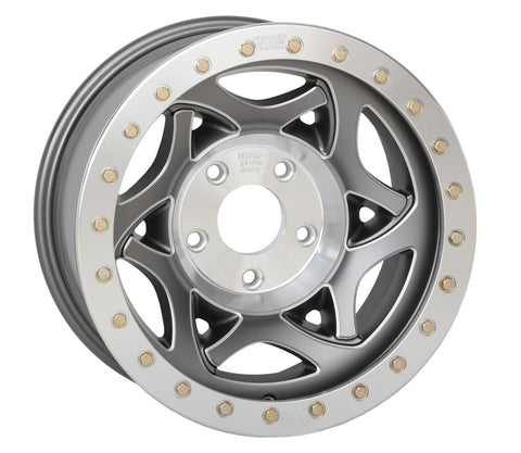 "17X8.5"" Legend II Beadlock Wheels Gun Metal Gray W' Accents"