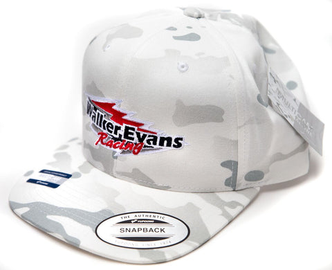 White Camo Snap Back Hat