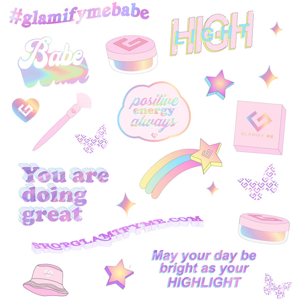 Highlighter Sticker Sheet