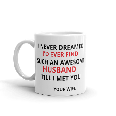 I never dreamed Coffee/Tea Mug_Perfect Valentine Gift for husbands