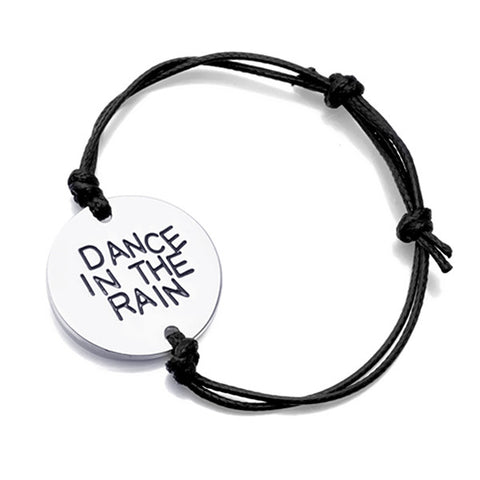 Dance In The Rain Hand Stamped Bracelet - Phany's