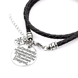 Confidently Dream - Hand Stamped Bracelet - Phany's