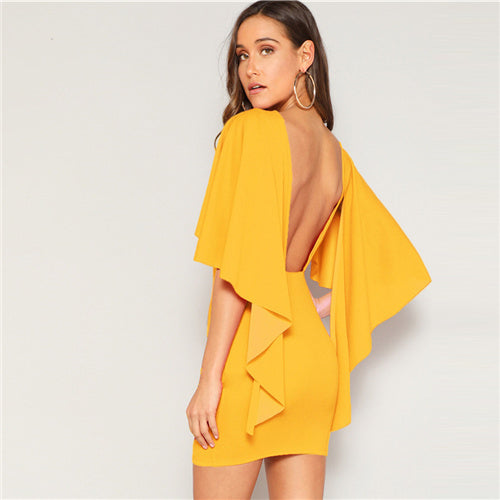 ELLE OPEN BACK MINI DRESS