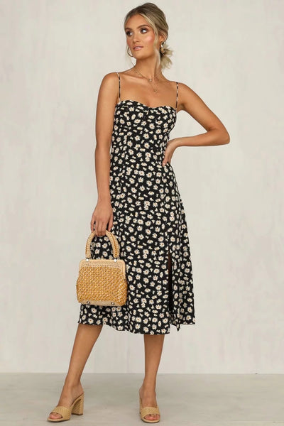PRINTING MIDI DAISY MIDI DRESS