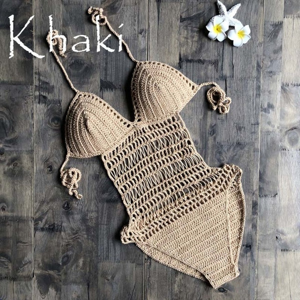LEAH CROCHET ONE PIECE SWIMSUIT