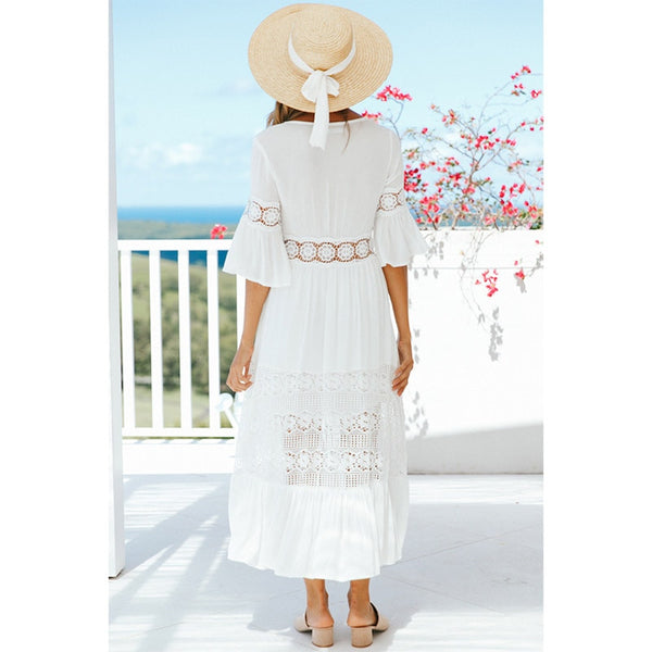 ELLE WHITE LACE TUNIC DRESS