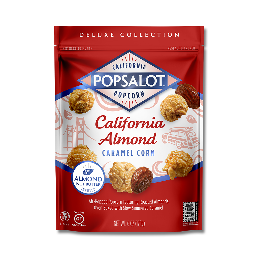 California Almond Caramel Corn, 12 Pack