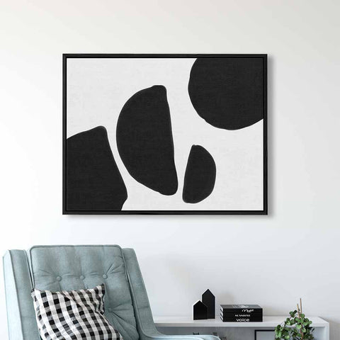 black and white abstract canvas art by abstract house