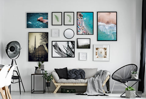 Large wall gallery framed art