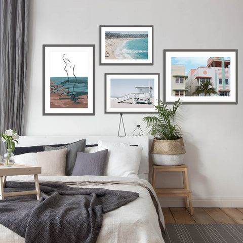 beach art prints gallery wall collection of wall art