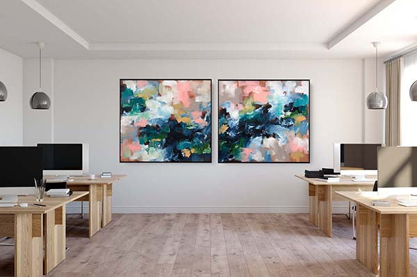 Art for the office original abstract paintings modern office decor