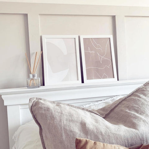 Bedroom Art by Abstract House My Gateford Home Beige Neutral Colours Line Art